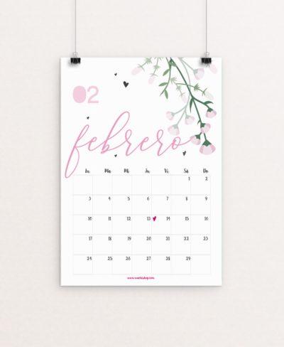 Calendario Febrero Wachishop