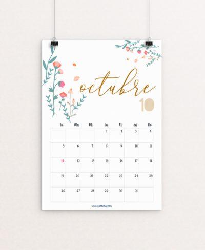 Calendario Octubre Wachishop