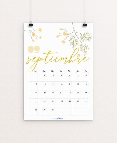 Calendario Septiembre Wachishop