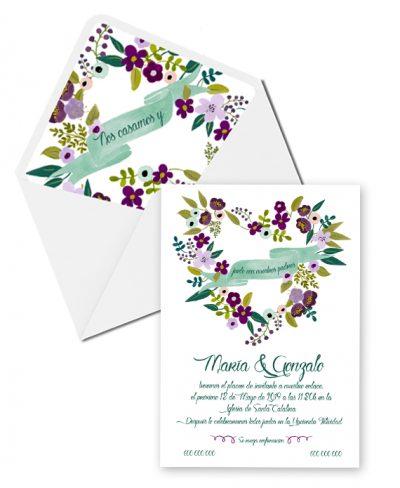INVITACION SWEET FLOWER
