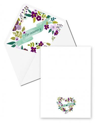 INVITACION SWEET FLOWER TRASERA